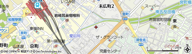 三重県松阪市末広町周辺の地図