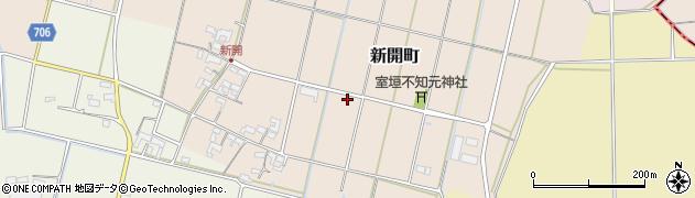 三重県松阪市新開町周辺の地図
