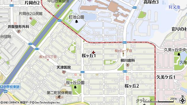 〒639-0202 奈良県北葛城郡上牧町桜ケ丘の地図