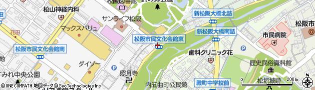 市民文化会館東周辺の地図