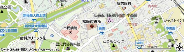 三重県松阪市周辺の地図