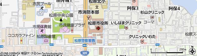 大阪府松原市周辺の地図