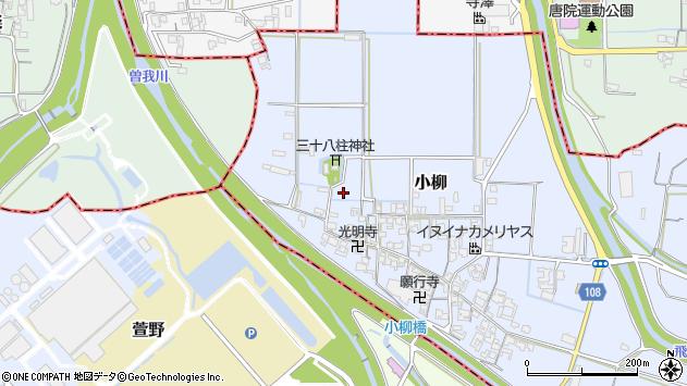 〒636-0216 奈良県磯城郡三宅町小柳の地図