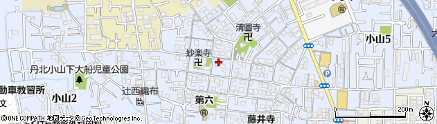 長因寺周辺の地図
