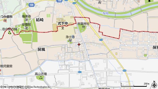 〒636-0217 奈良県磯城郡三宅町屏風の地図