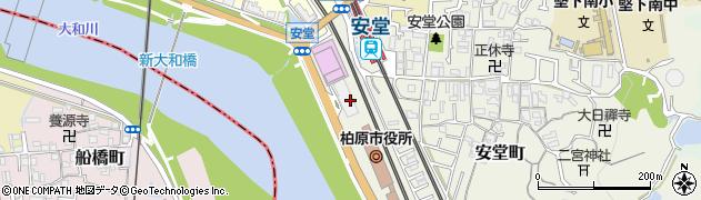 大阪府柏原市周辺の地図