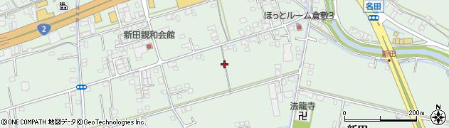 岡山県倉敷市新田周辺の地図