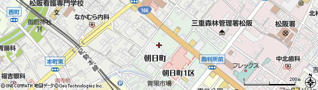 三重県松阪市朝日町周辺の地図