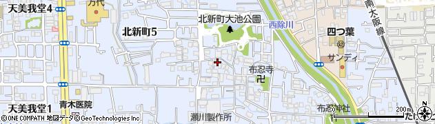 大阪府松原市北新町周辺の地図