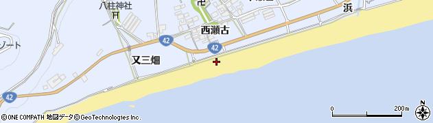 愛知県田原市日出町(浜)周辺の地図