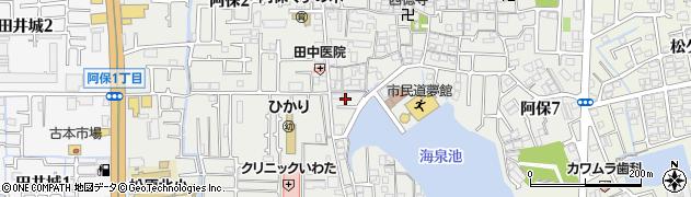 大阪府松原市阿保周辺の地図