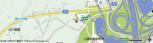 淡路IC周辺の地図