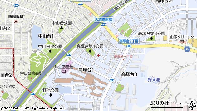 〒636-0071 奈良県北葛城郡河合町高塚台の地図