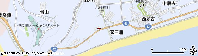 愛知県田原市日出町(又三畑)周辺の地図