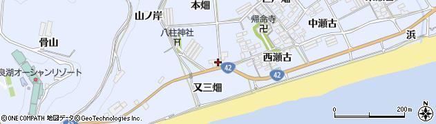 愛知県田原市日出町(本畑)周辺の地図