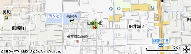 田坐神社周辺の地図