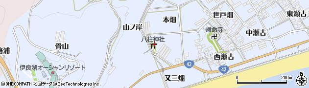 愛知県田原市日出町(山ノ岸)周辺の地図