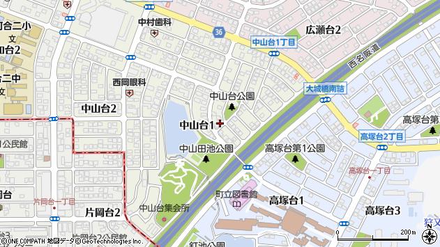 〒636-0072 奈良県北葛城郡河合町中山台の地図