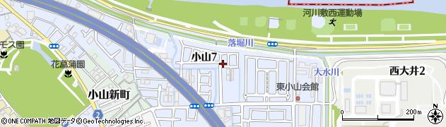 大阪府藤井寺市小山周辺の地図