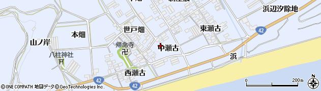 愛知県田原市日出町(中瀬古)周辺の地図