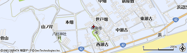 愛知県田原市日出町(北本畑)周辺の地図