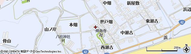 愛知県田原市日出町周辺の地図