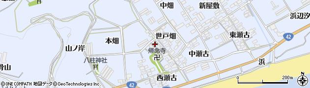 愛知県田原市日出町(長畑)周辺の地図