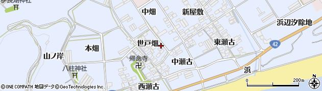 愛知県田原市日出町(世戸畑)周辺の地図