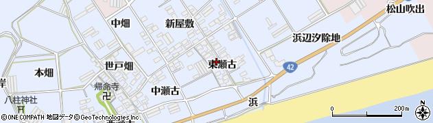 愛知県田原市日出町(東瀬古)周辺の地図