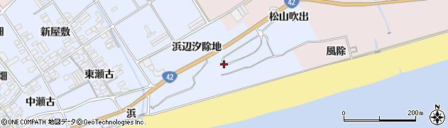 愛知県田原市日出町(浜辺汐除地)周辺の地図