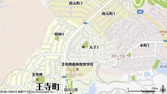 〒636-0023 奈良県北葛城郡王寺町太子の地図