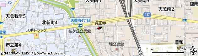 貞正寺周辺の地図