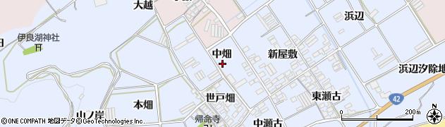 愛知県田原市日出町(中畑)周辺の地図