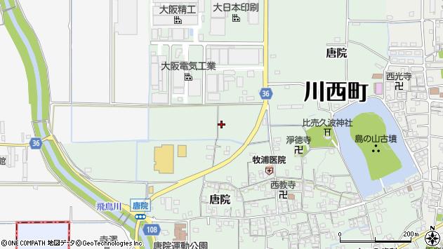 〒636-0204 奈良県磯城郡川西町唐院の地図