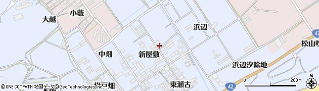 愛知県田原市日出町(浜辺)周辺の地図