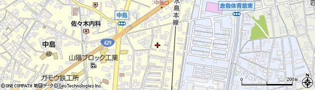 岡山県倉敷市中島周辺の地図