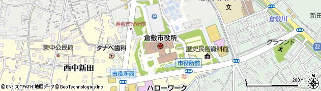 岡山県倉敷市周辺の地図