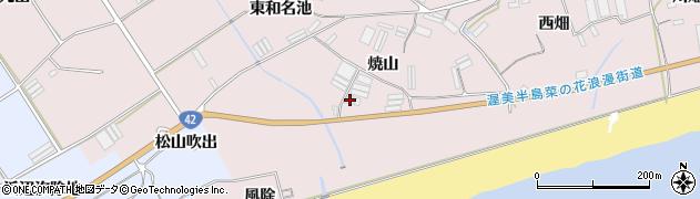 愛知県田原市堀切町(焼山)周辺の地図