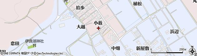 愛知県田原市伊良湖町(小薮)周辺の地図