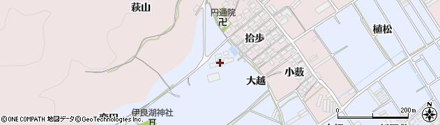 愛知県田原市日出町(大越)周辺の地図