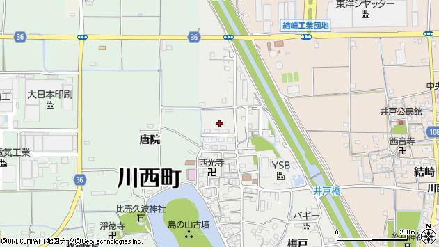 〒636-0203 奈良県磯城郡川西町梅戸の地図