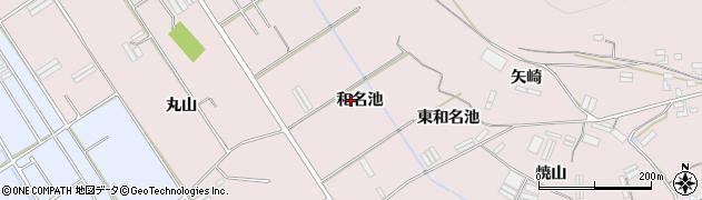愛知県田原市堀切町(和名池)周辺の地図