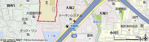 大堀北周辺の地図