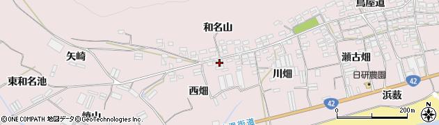 愛知県田原市堀切町(西畑)周辺の地図
