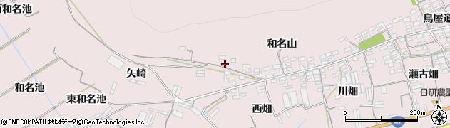 愛知県田原市堀切町(和名山)周辺の地図