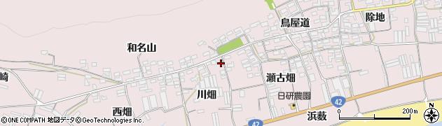 愛知県田原市堀切町(川畑)周辺の地図