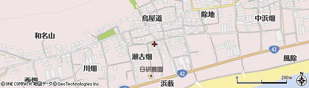 愛知県田原市堀切町(瀬古畑)周辺の地図