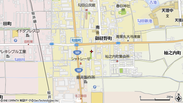 〒632-0033 奈良県天理市勾田町の地図