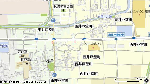 〒632-0075 奈良県天理市西井戸堂町の地図