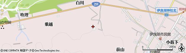 愛知県田原市伊良湖町(萩山)周辺の地図